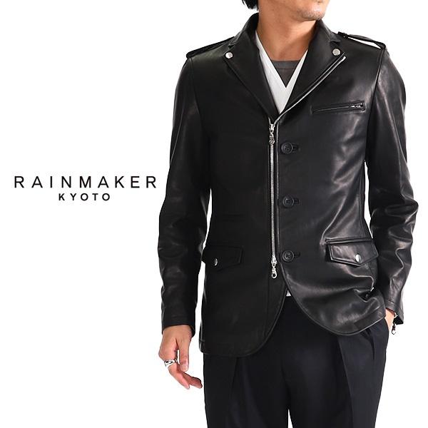 RAINMAKER KYOTO レインメーカー シングルブレザー ライダースジャケット RM182-001 レザージャケット (メンズ)