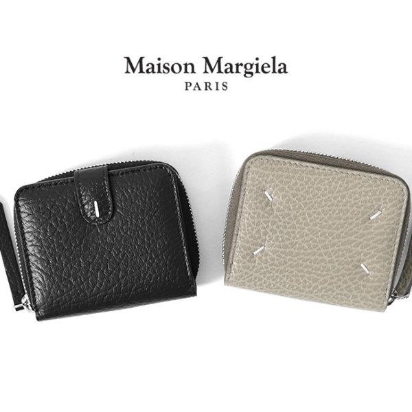 Maison Margiela メゾンマルジェラ 二つ折り レザー ジップアラウンド ミニウォレット S56UI0112 P0399 T8013