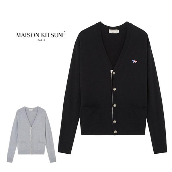 Maison Kitsune メゾンキツネ  トリコ フォックスロゴ ハイゲージ カーディガン AU00500KT1036