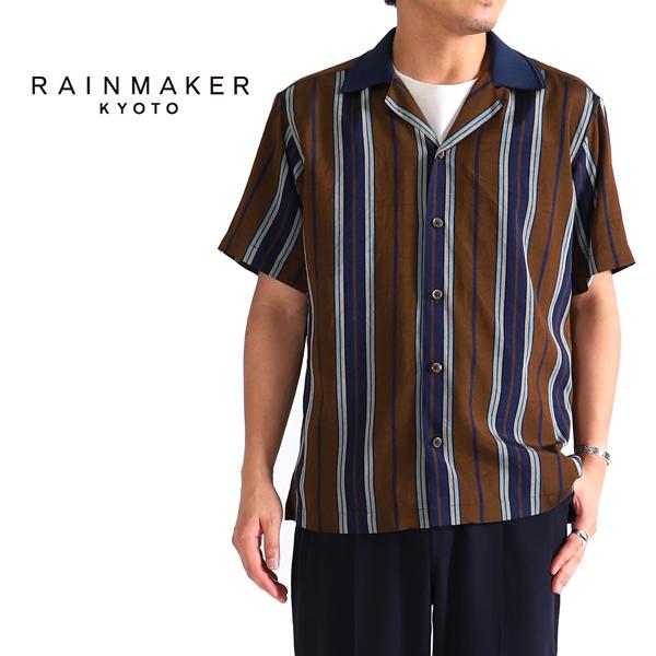 RAINMAKER レインメーカー ニットカラー オープンカラーシャツ RM181-035 開襟シャツ (メンズ)