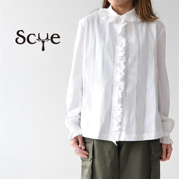 Scye サイ カンブリック ピンタックシャツ 1219-33097