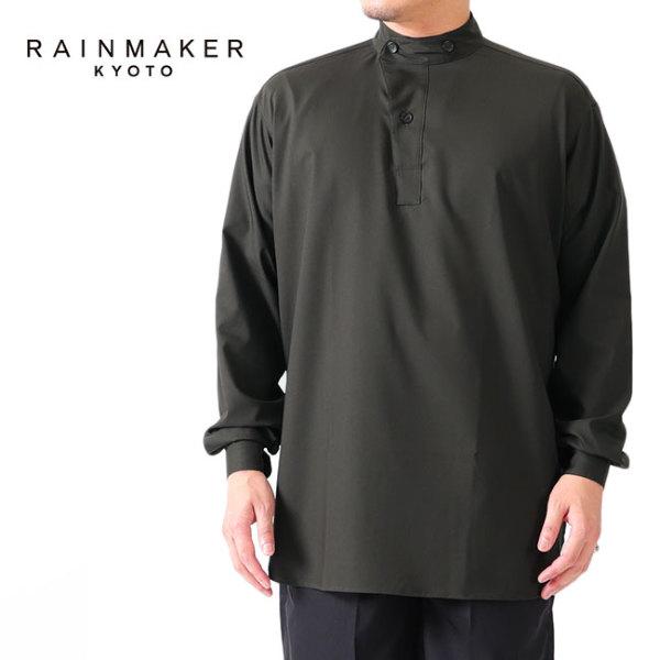 RAINMAKER レインメーカー プルオーバー バンドカラー ロングテイルシャツ RM212-008
