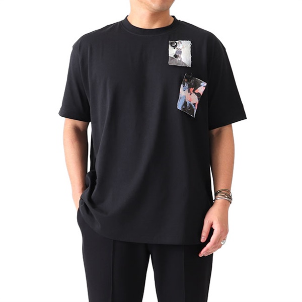 RAFSIMONS × FRED PERRY ラフシモンズ フレッドペリー プリントパッチ Tシャツ SM1857