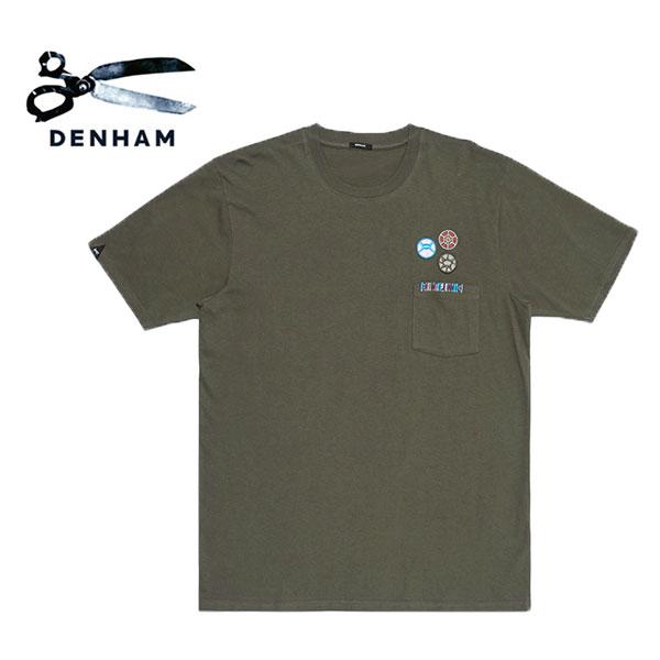 DENHAM デンハム ワッペンロゴ 胸ポケット Tシャツ Honour T-Shirt (メンズ)