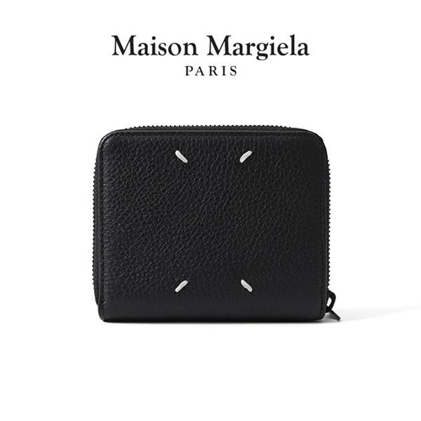Maison Margiela メゾンマルジェラ グレインレザー ラウンドファスナー 二つ折り 財布 S55UI0197 P2686