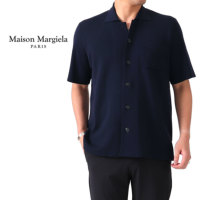 Maison Margiela メゾンマルジェラ オープンカラー ニットシャツ 半袖シャツ