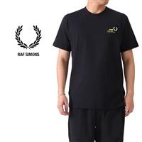 FRED PERRY × RAF SIMONS フレッドペリー ラフシモンズ 刺繍ロゴ Tシャツ SM8130