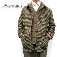 【予約商品】<br>ANATOMICA アナトミカ チェック ウール ローファージャケット 530-552-09